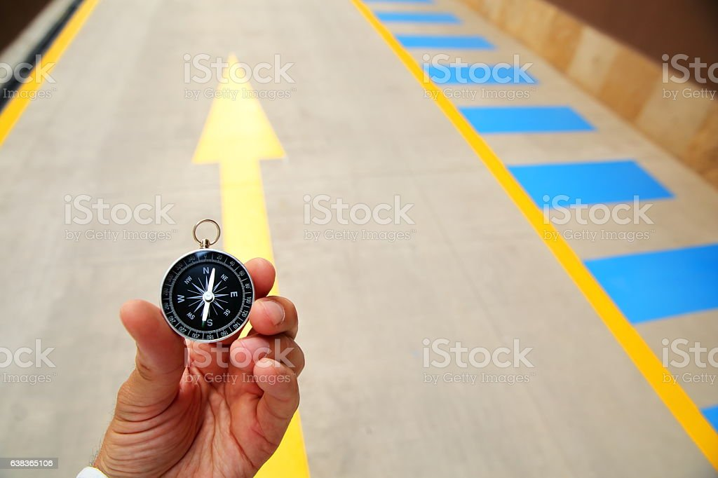 Compass in Arrow Symbol stock photo