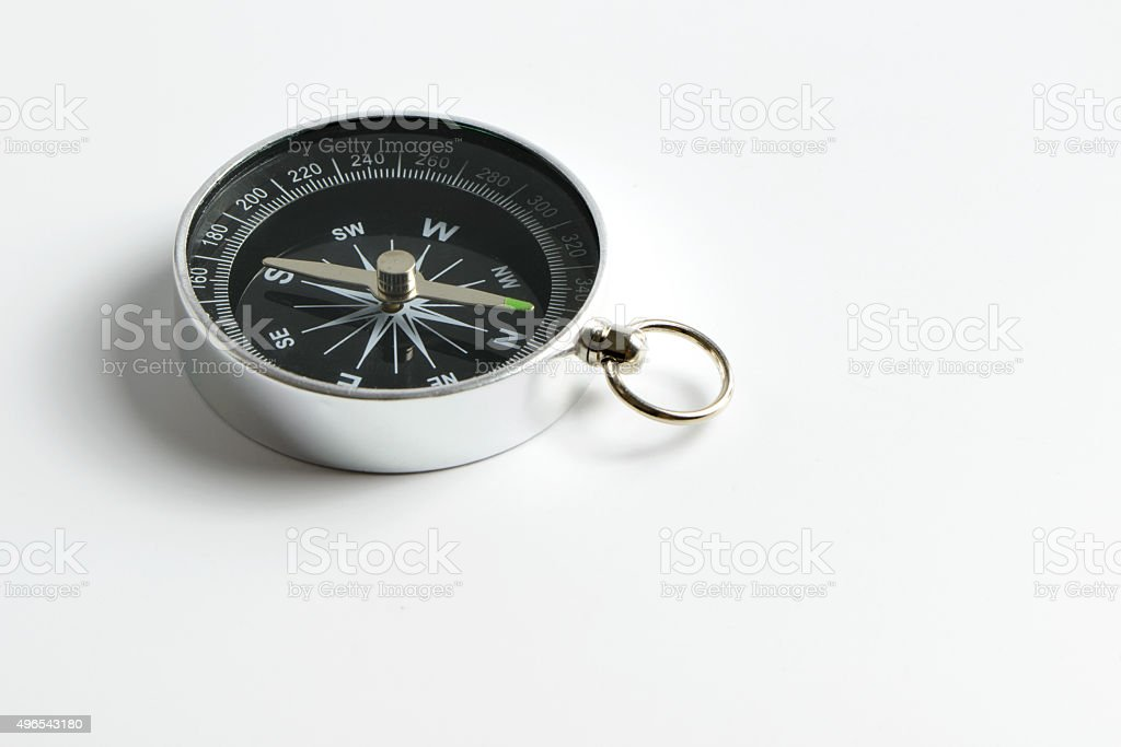 Compass isolated on white background stock photo