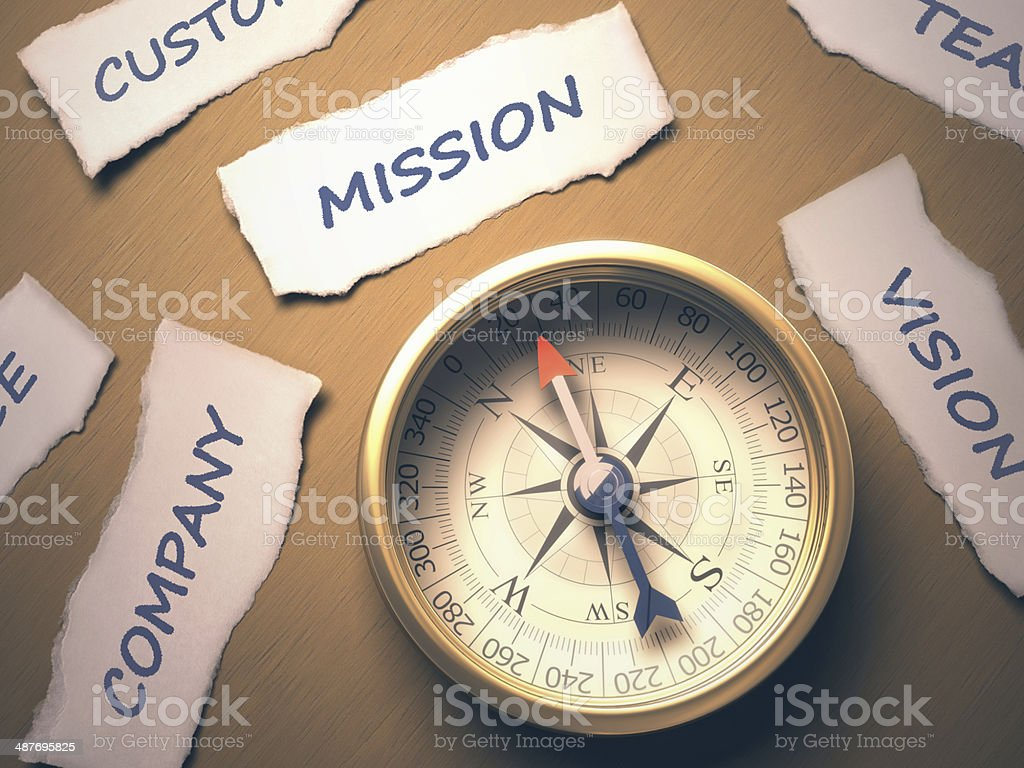 Compass Mission royalty-free stock photo