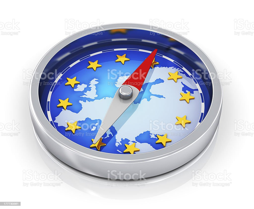Compass of Europe royalty-free stock photo