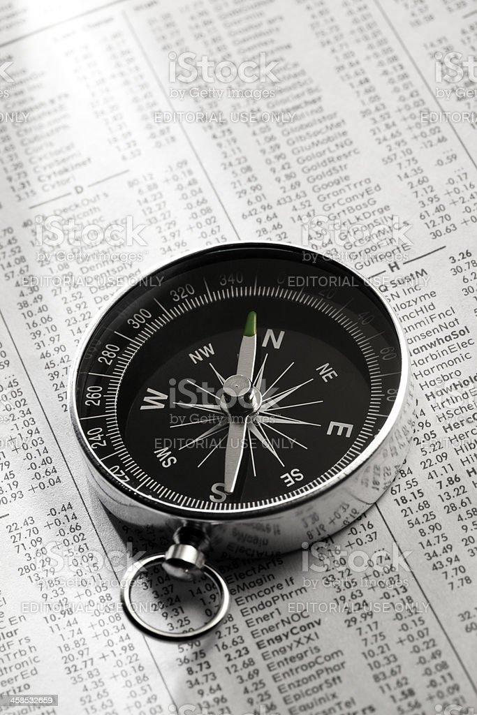 Kompass auf die finanzielle Seite – Foto