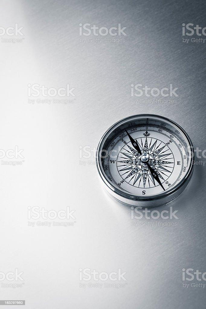 Kompass auf Metall – Foto