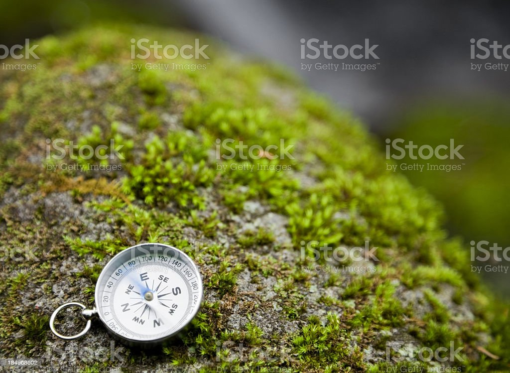 Compass on rock royalty-free stock photo