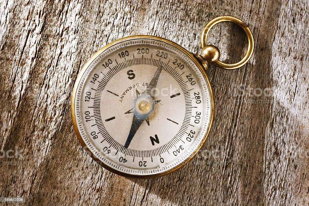 Compass on the table. royalty-free stock photo