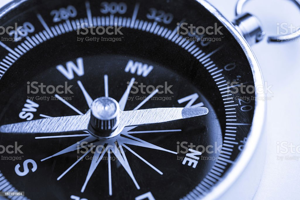 Compass on the white background royalty-free stock photo
