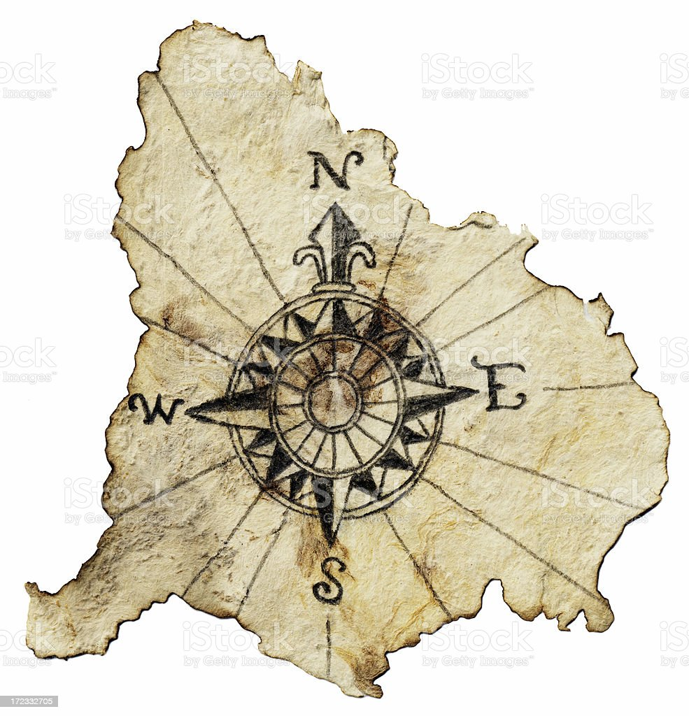 Compass on white stock photo