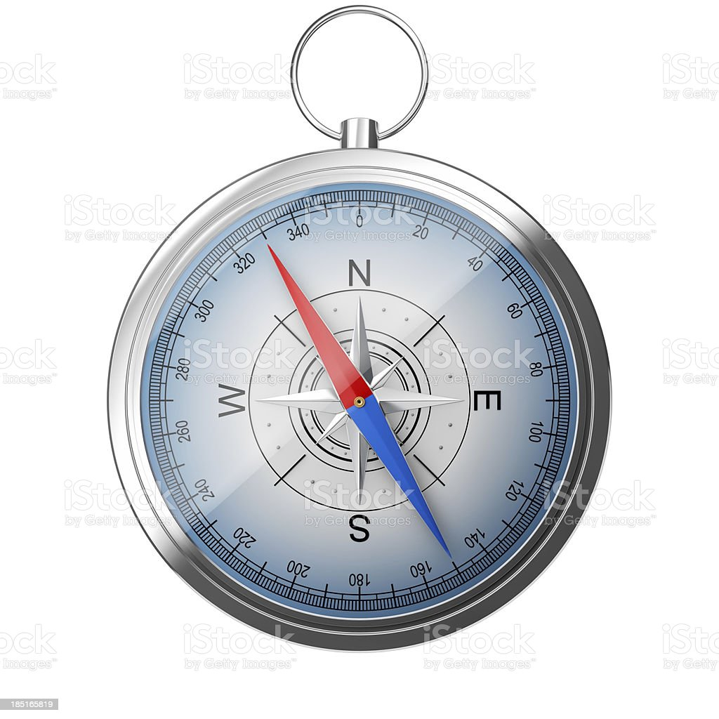 Compass on white royalty-free stock photo