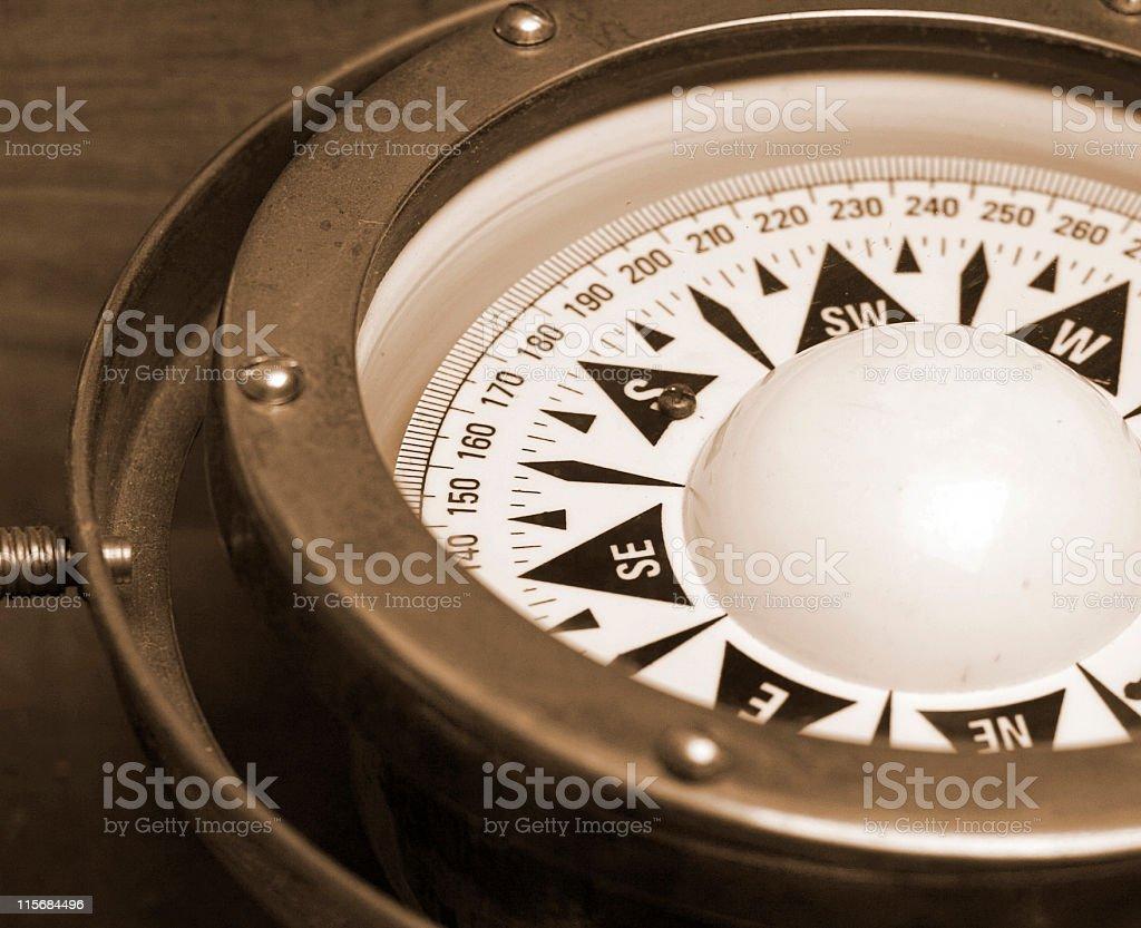 Compass (B&W) royalty-free stock photo