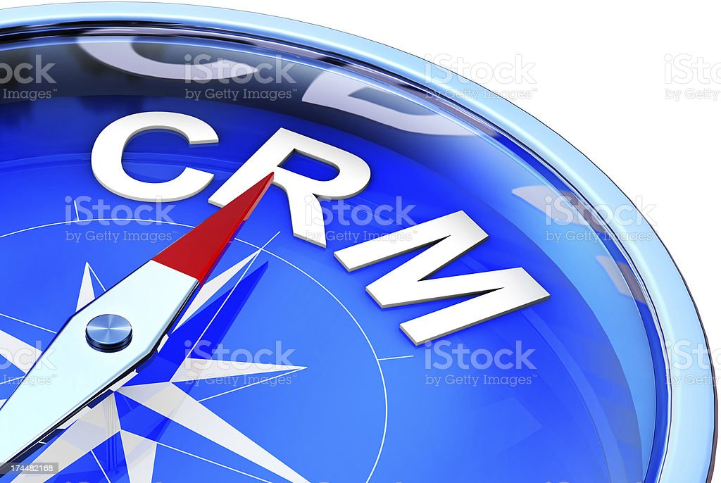 CRM compass stock photo
