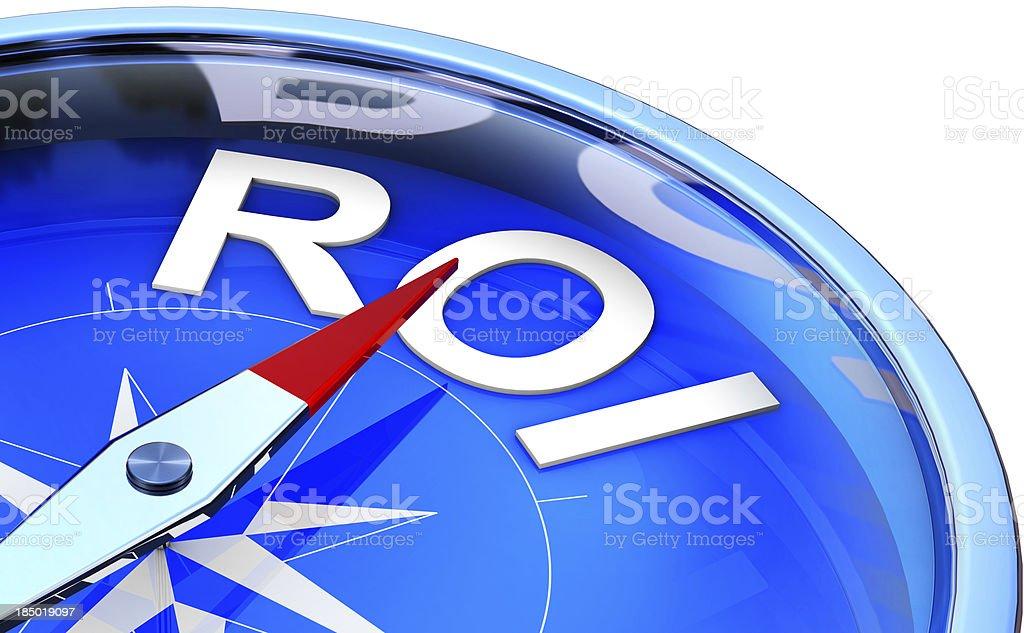 ROI compass stock photo