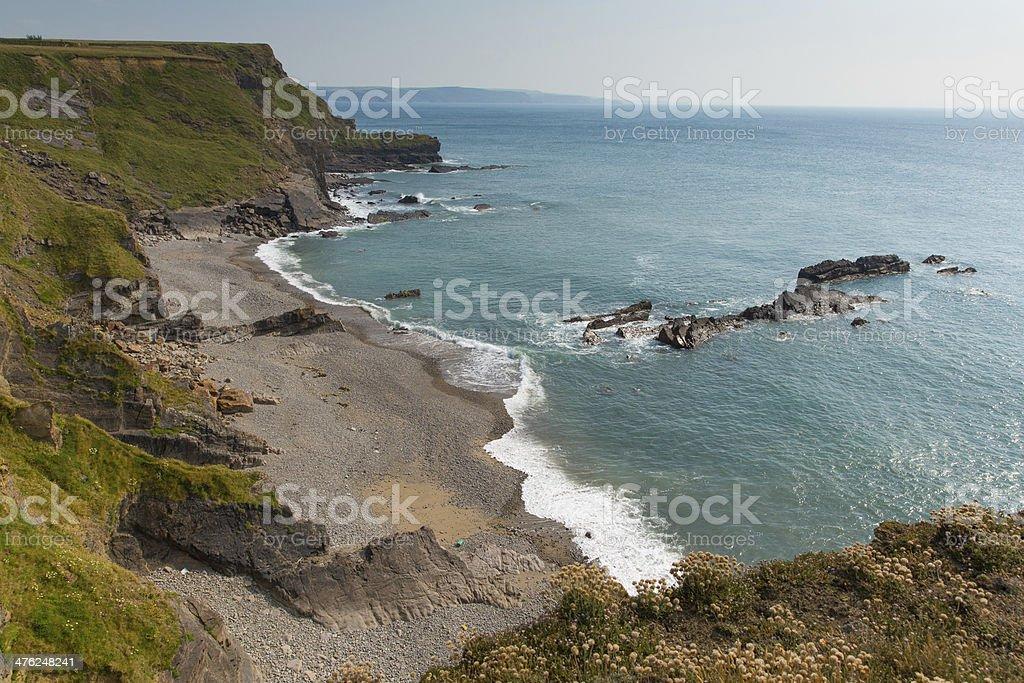 Compass Point beach Bude North Cornwall England UK stock photo