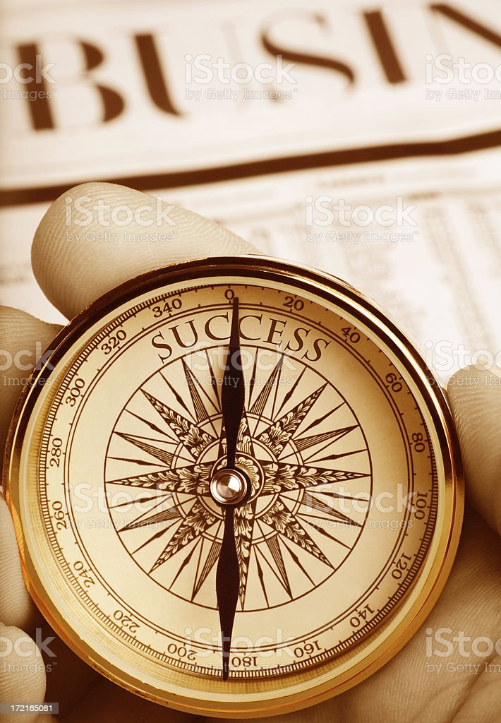 Compass Pointing the Way to Success royalty-free stock photo
