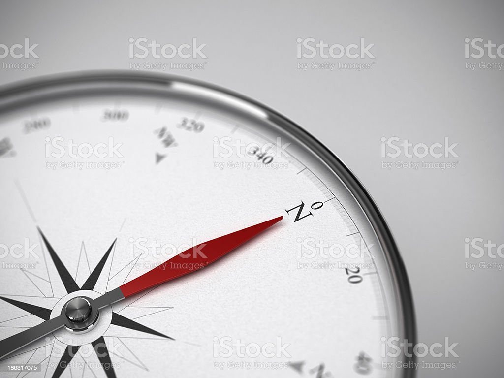 Compass Pointing to the North royalty-free stock photo