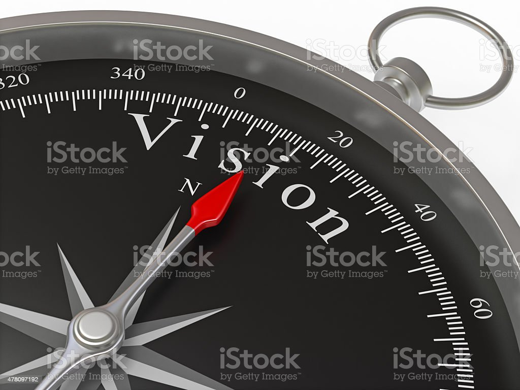 Compass Pointing to Vision stock photo