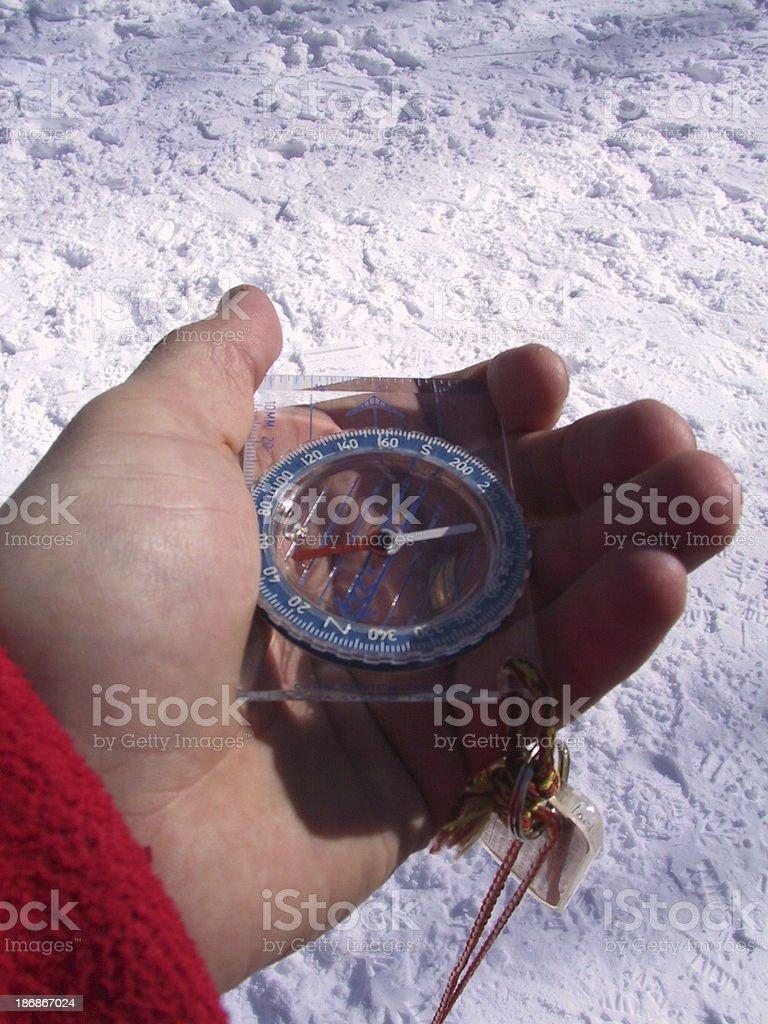Compass Reading royalty-free stock photo