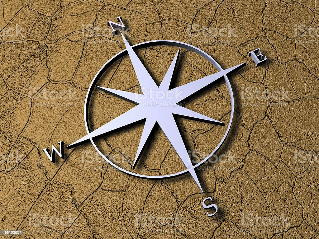 Compass Rendered in 3D royalty-free stock photo