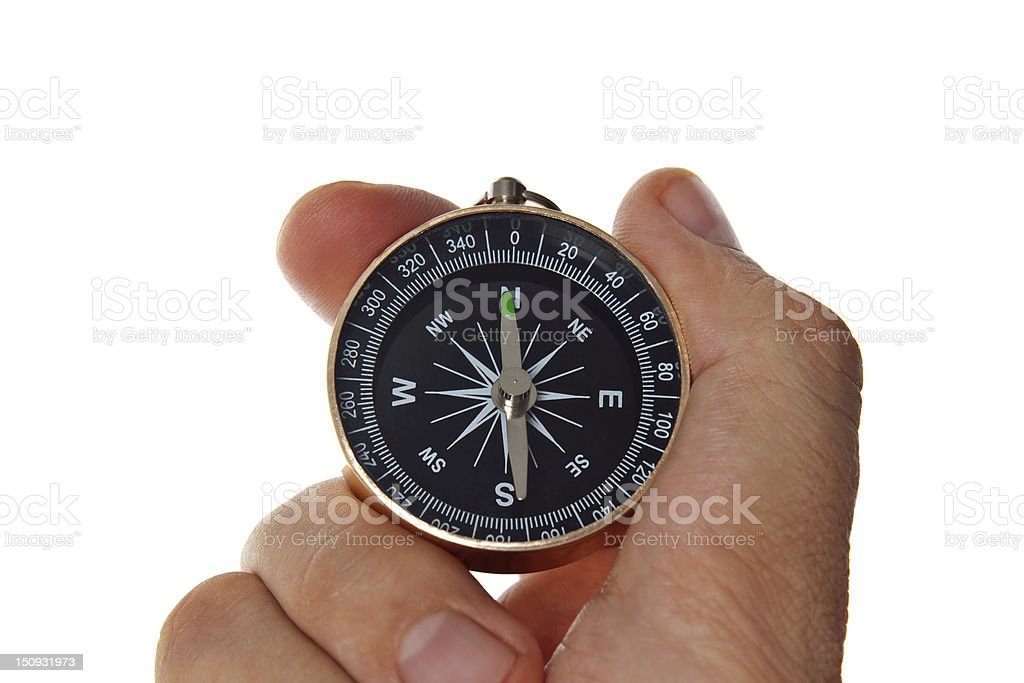 compass showing the direction stock photo