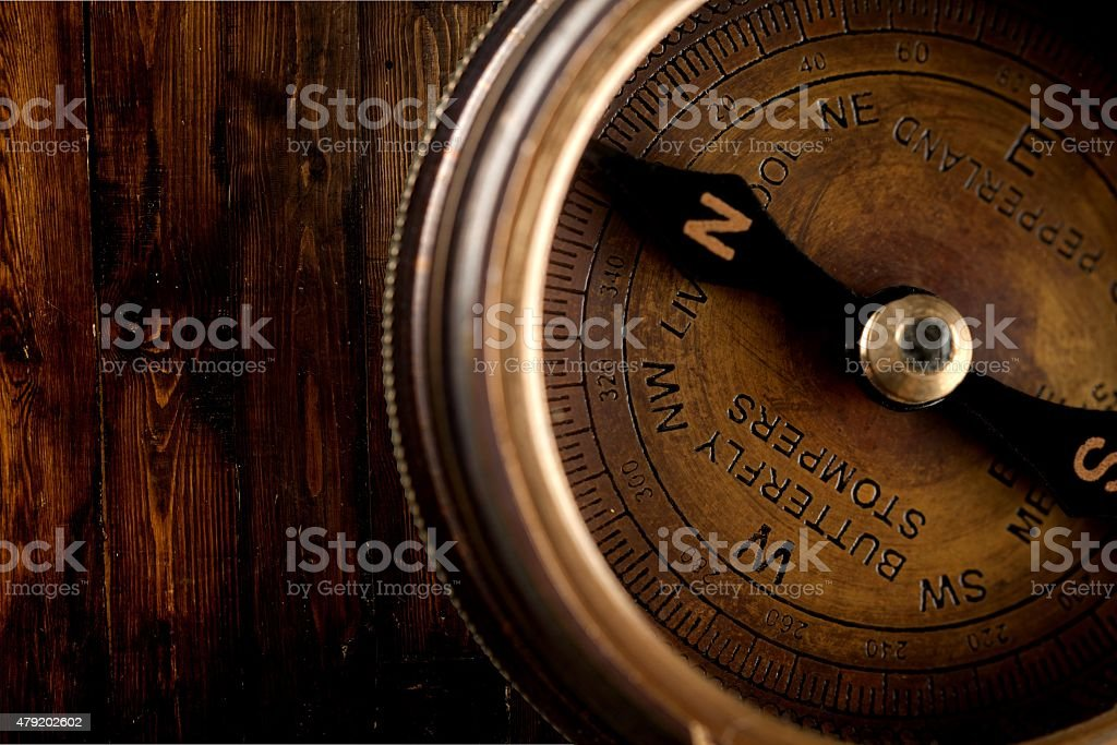 Compass, The Way Forward, Isolated stock photo