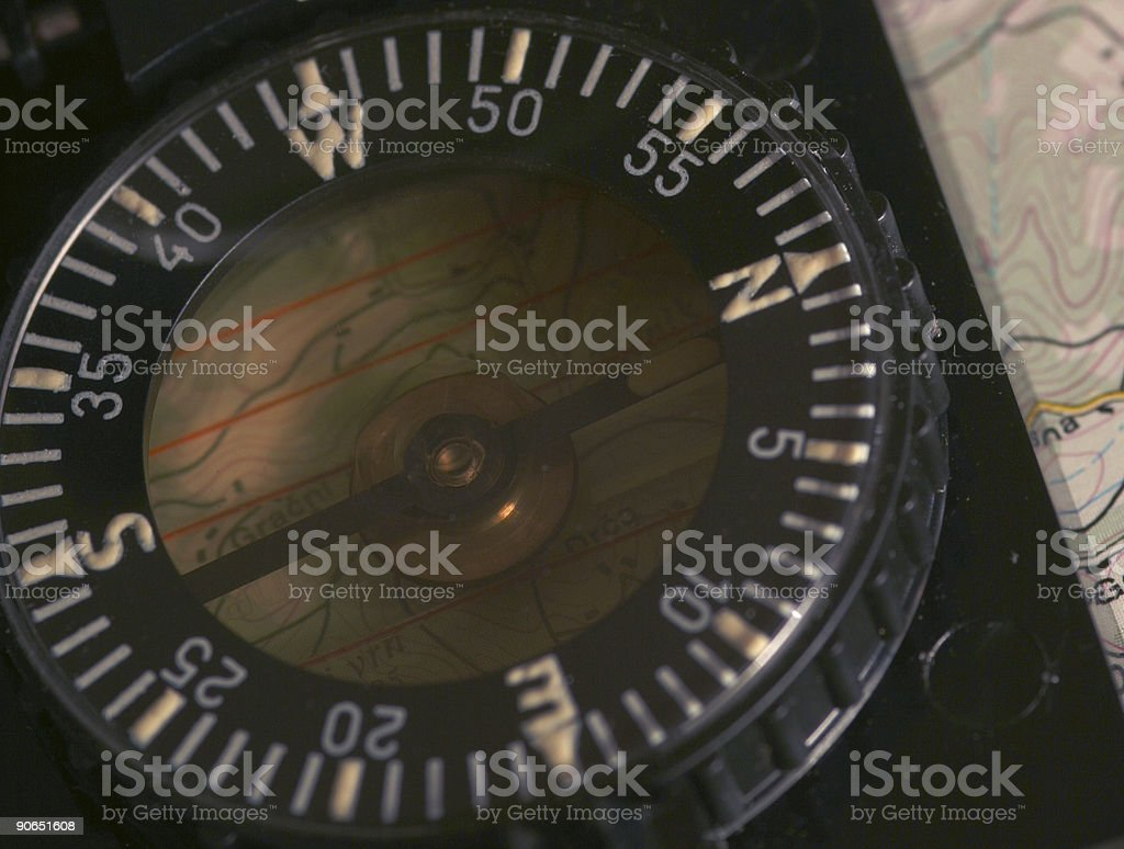 Compass up close royalty-free stock photo