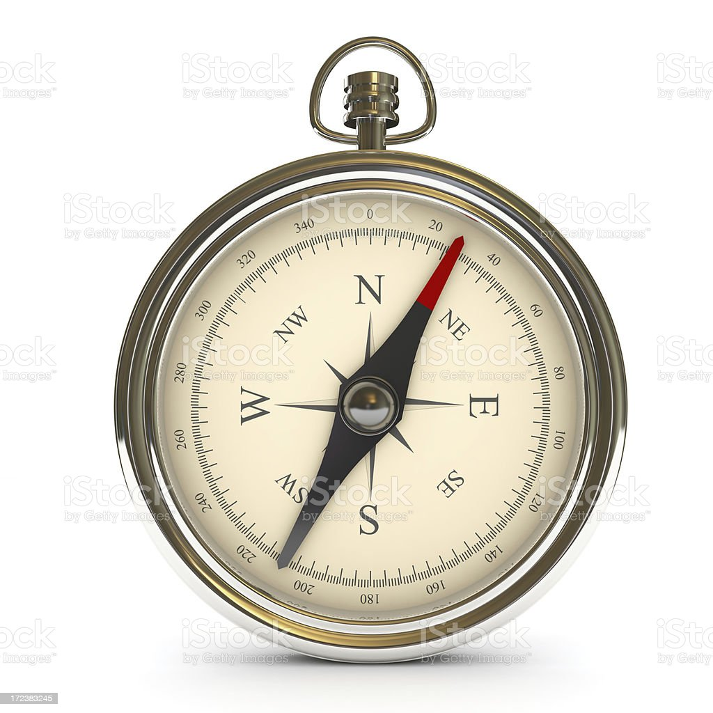 Compass with clipping path stock photo