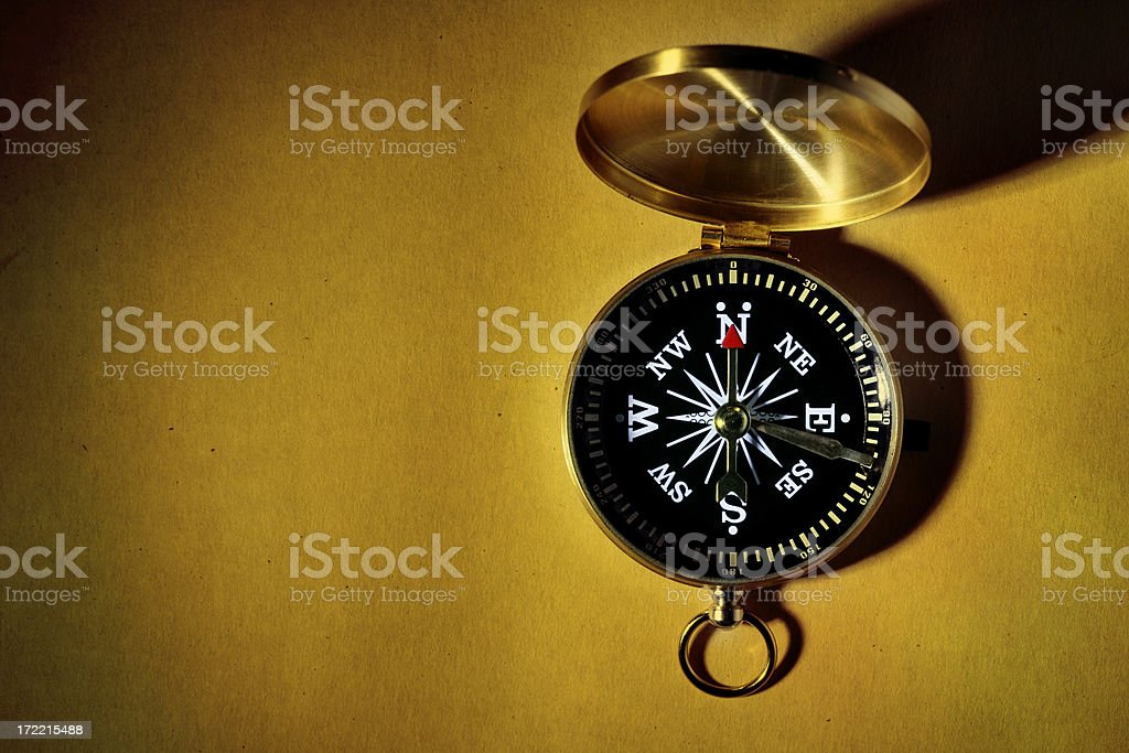 Compass  with copyspace royalty-free stock photo