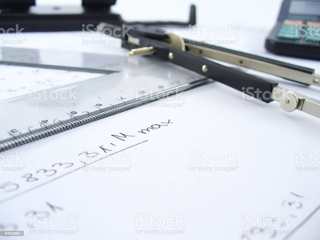 compasses and ruler royalty-free stock photo