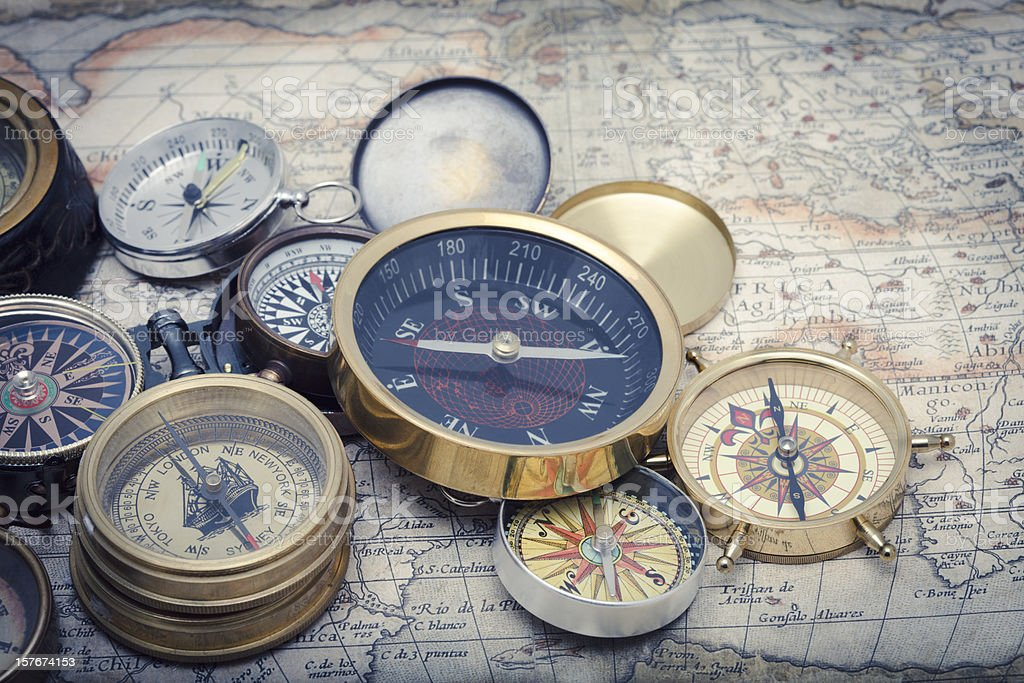Compasses stock photo