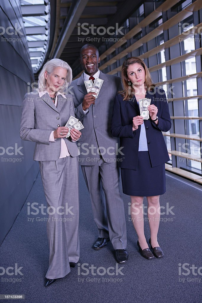 Compensational Inequities Full Body Vertical royalty-free stock photo