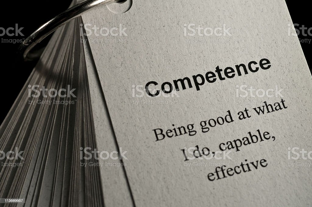 Competence Definition stock photo