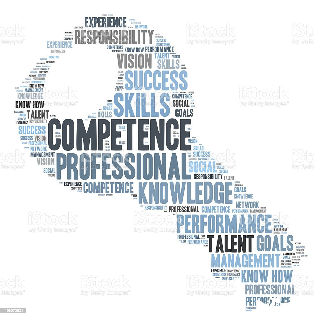competence key word cloud stock photo