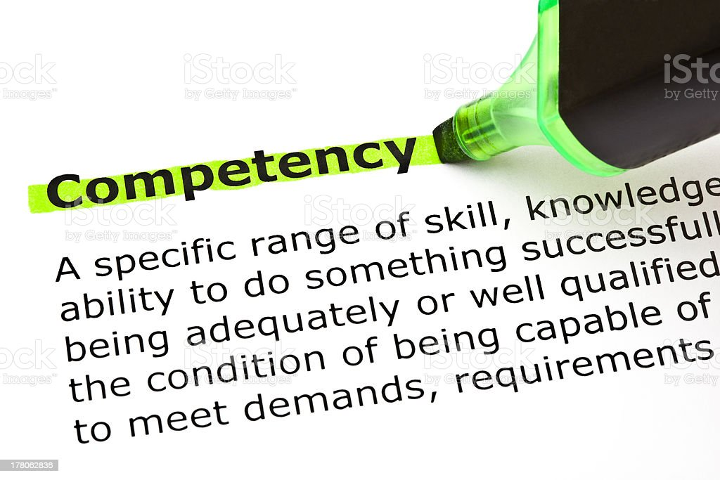 Competency Definition royalty-free stock photo