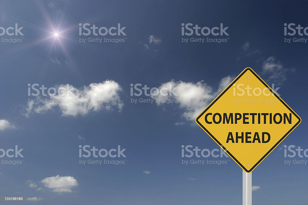 Competition Ahead royalty-free stock photo