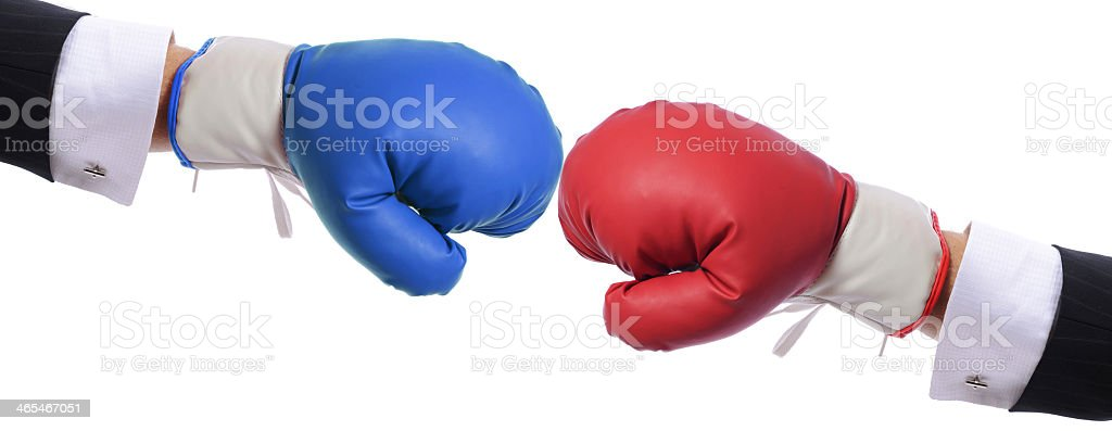 Competition between two people stock photo