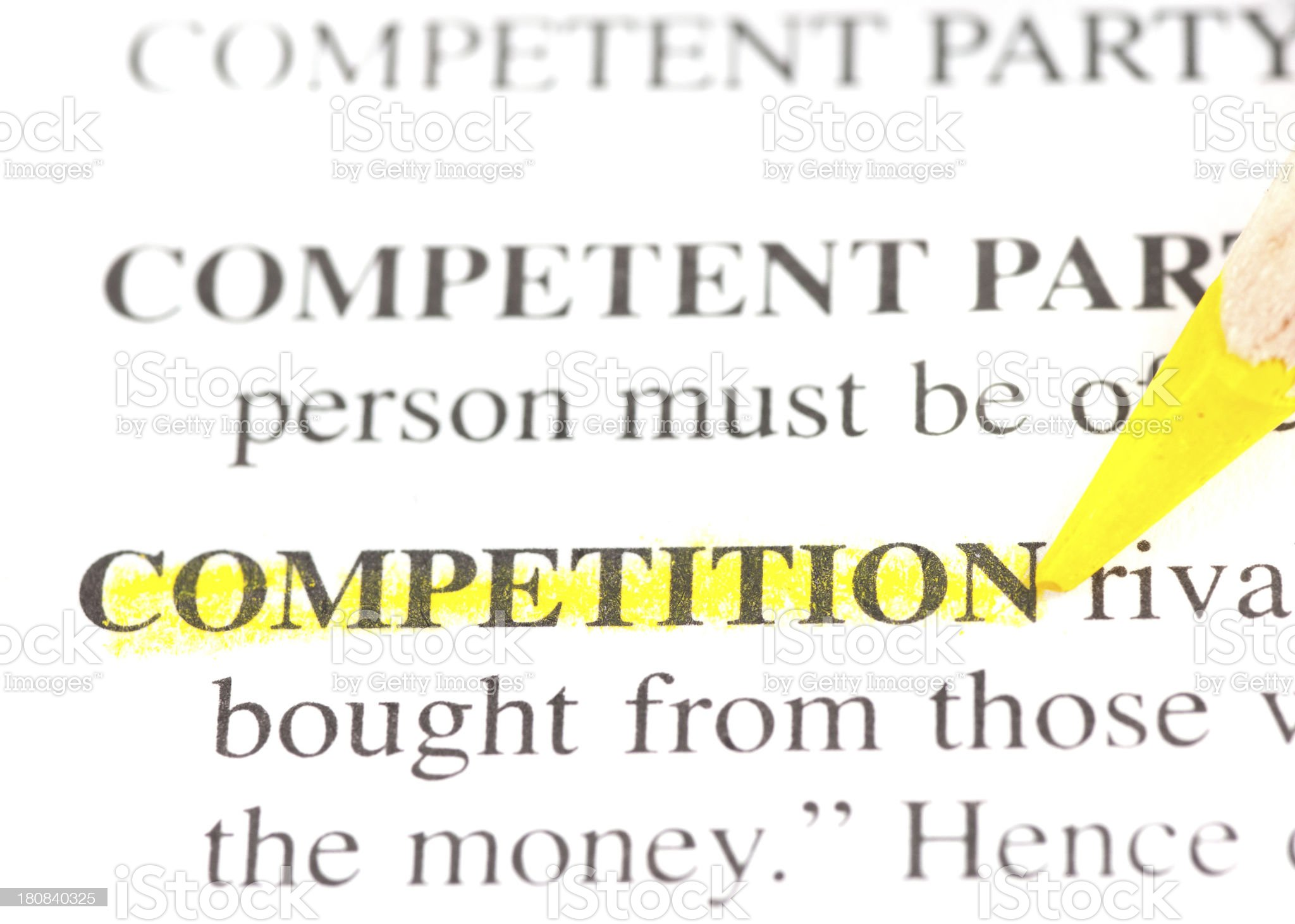 competition definition marked in dictionary royalty-free stock photo