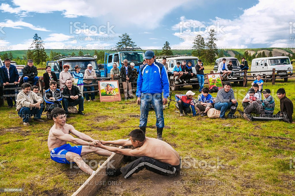 Competition  indigenous people of  North on  national holiday - ESYAH stock photo