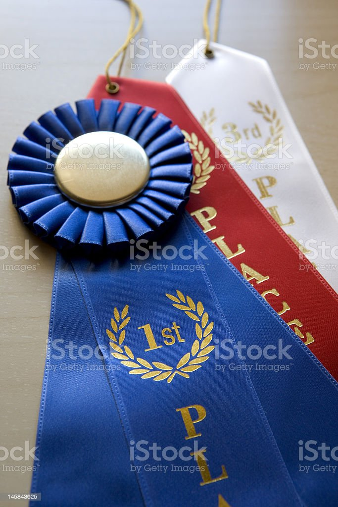 Competition Ribbons stock photo