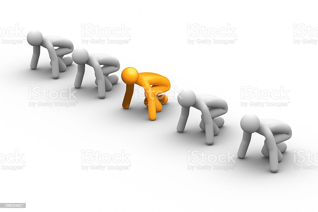 Competition - Starting line royalty-free stock photo