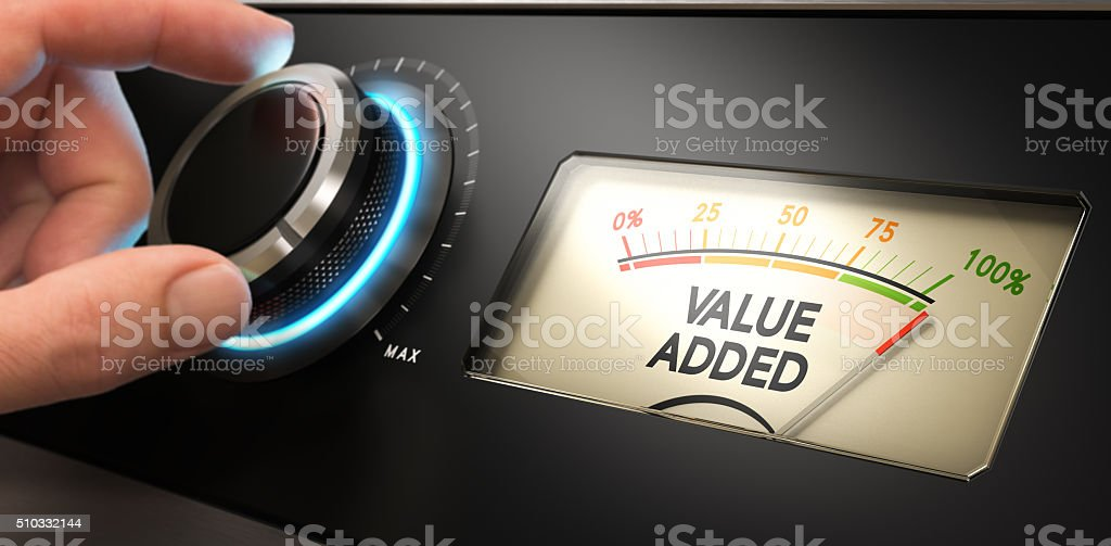 Competitive Advantage Concept stock photo