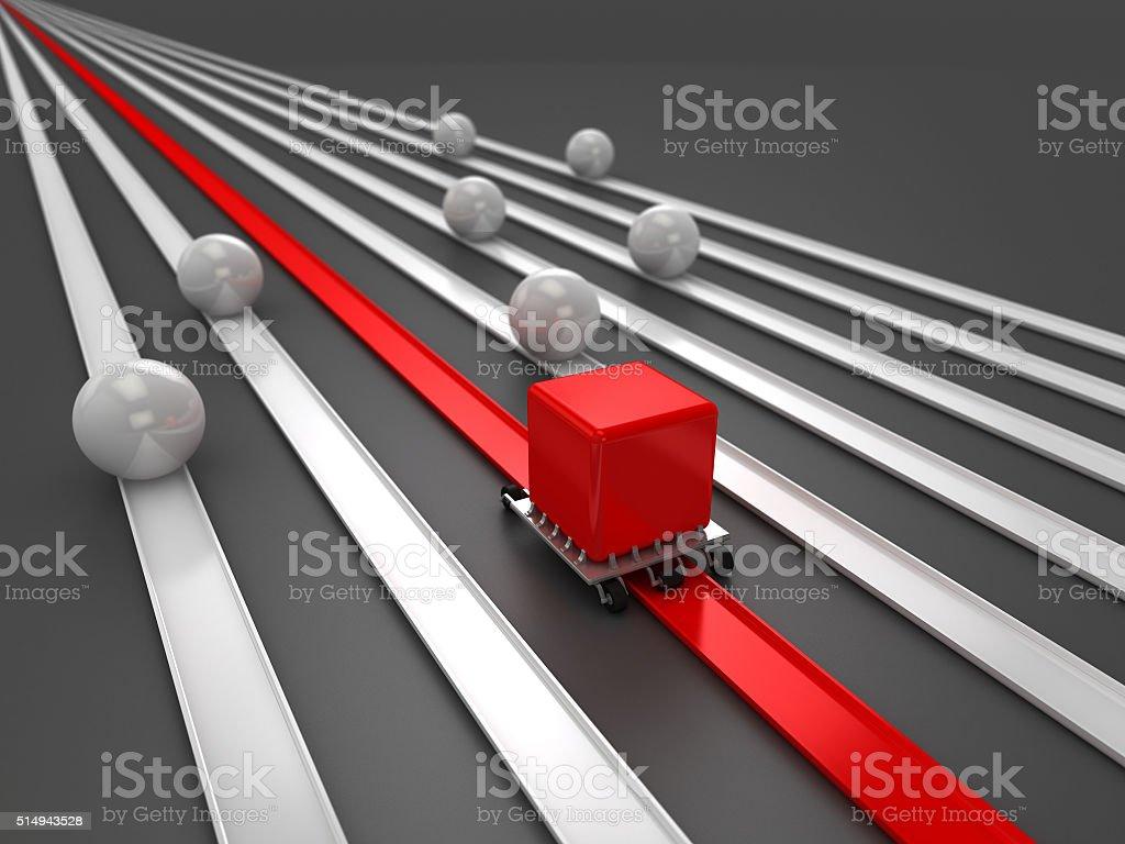Competitive advantage   Facilitating deficiencies stock photo