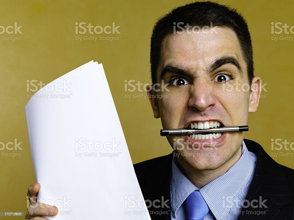 Competitive businessman royalty-free stock photo