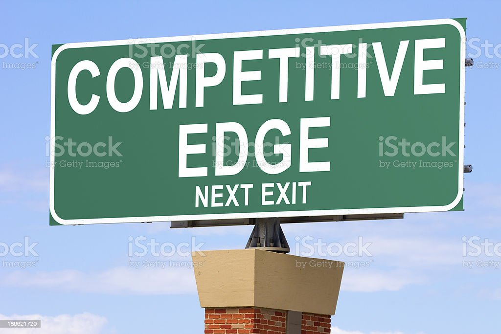 Competitive Edge Road Sign royalty-free stock photo