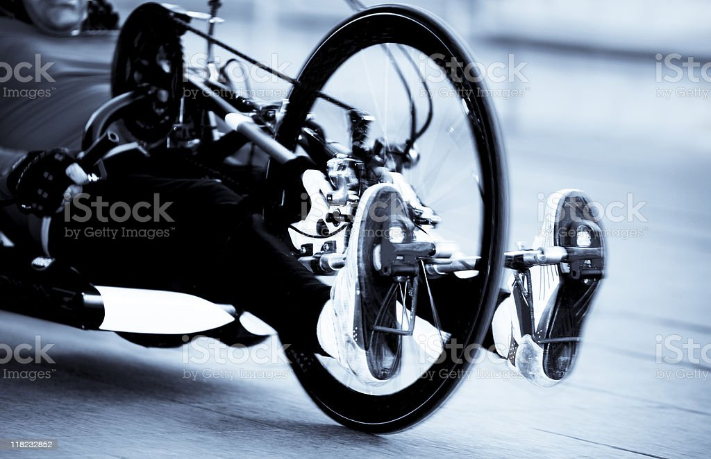 Competitive Sport for Disabled. Toned Image stock photo