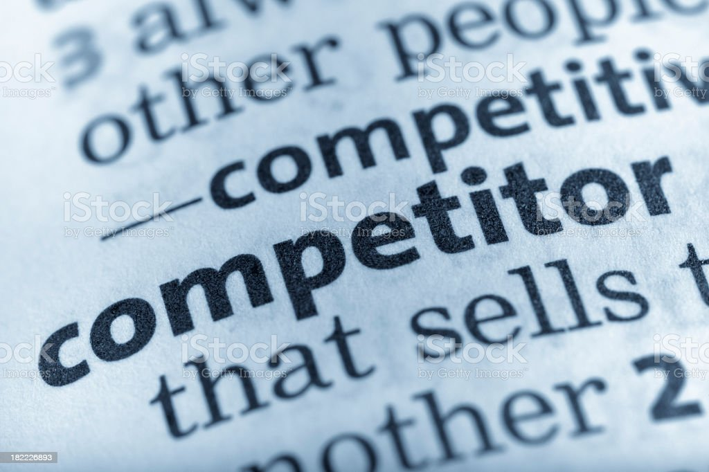 Competitor royalty-free stock photo