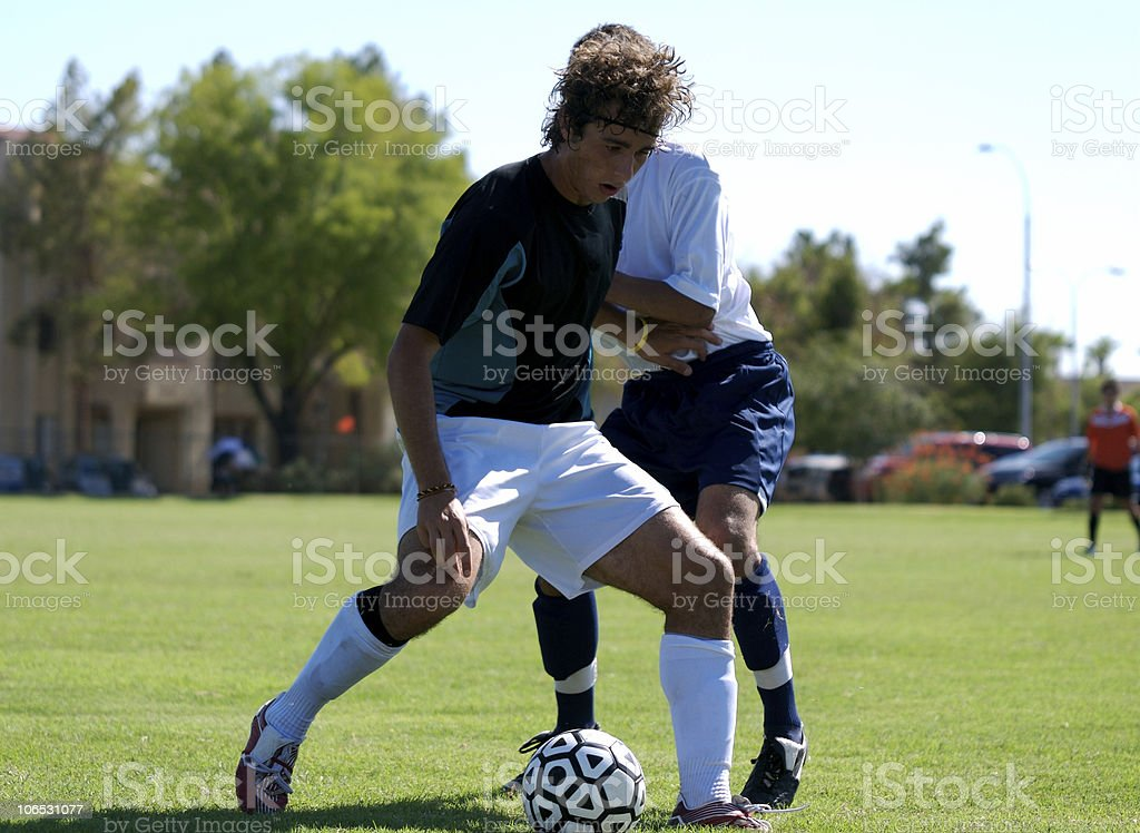 Competitve Soccer royalty-free stock photo