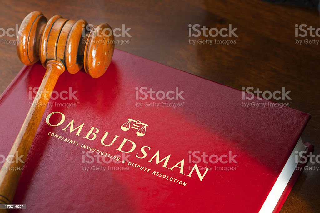 Complain to the Ombudsman royalty-free stock photo