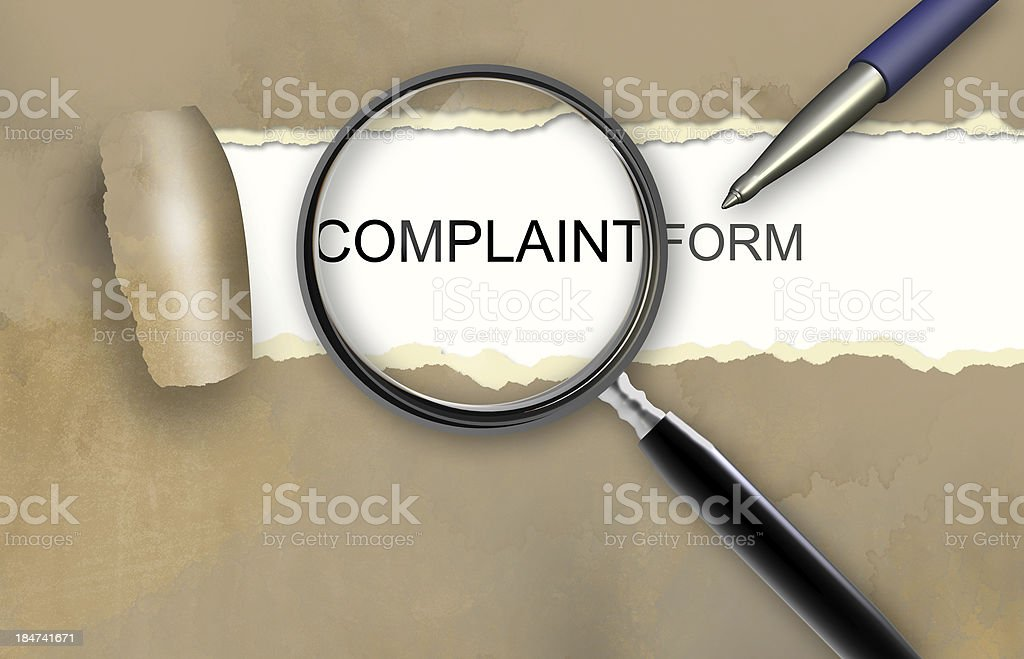 Complaint form royalty-free stock photo