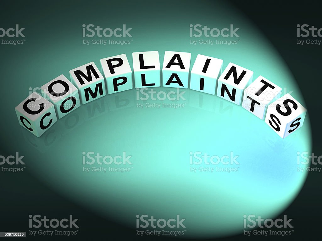 Complaints Letters Means Dissatisfied Angry And Criticism stock photo