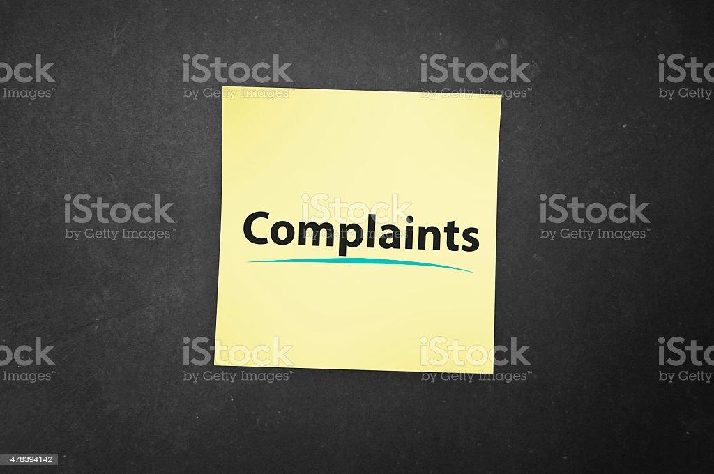 Complaints Reminders stock photo