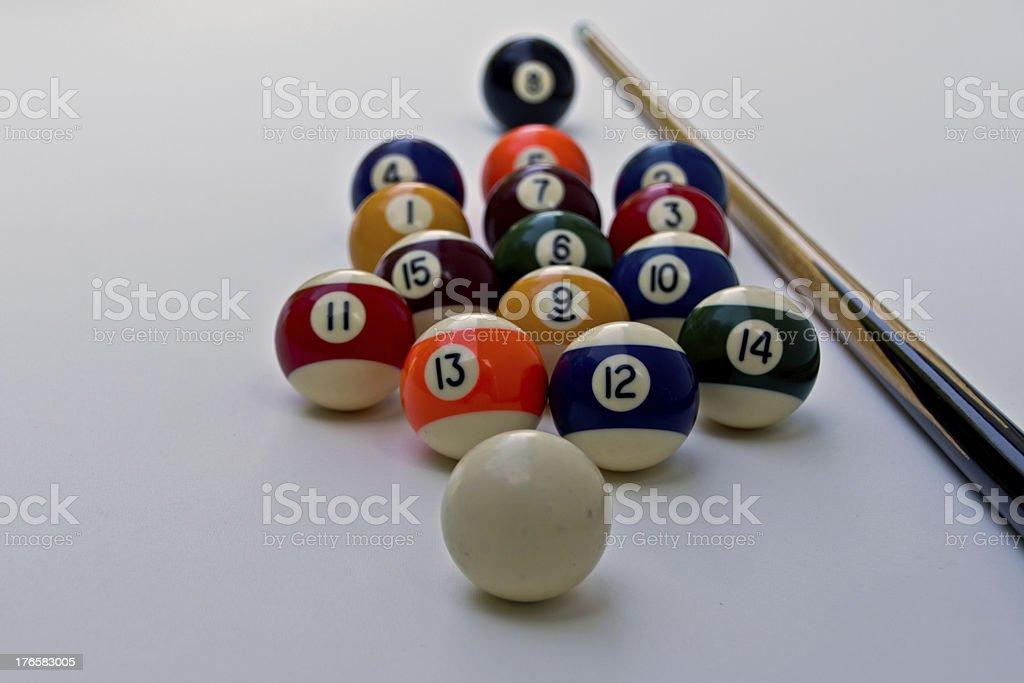 complete billiard equipment royalty-free stock photo