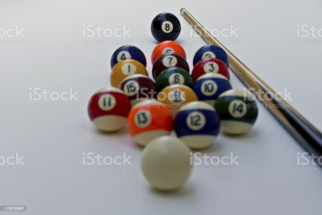 complete billiard equipment royalty-free stock photo